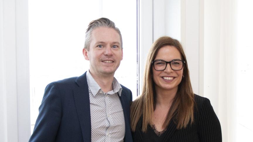 Björn Lanner, vice vd Öresundsporten, och Manuela Zerega Westin, vd på Beautiful Apartments