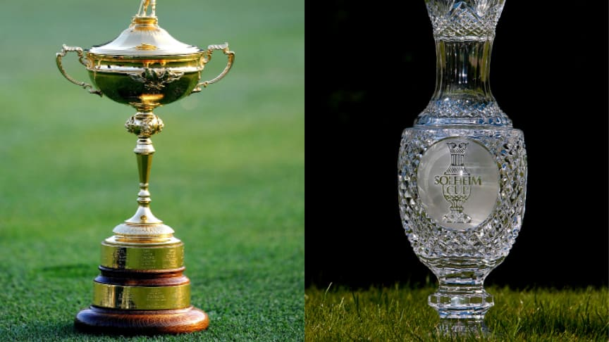 Ryder Cup Trophy and Solheim Cup Trophy