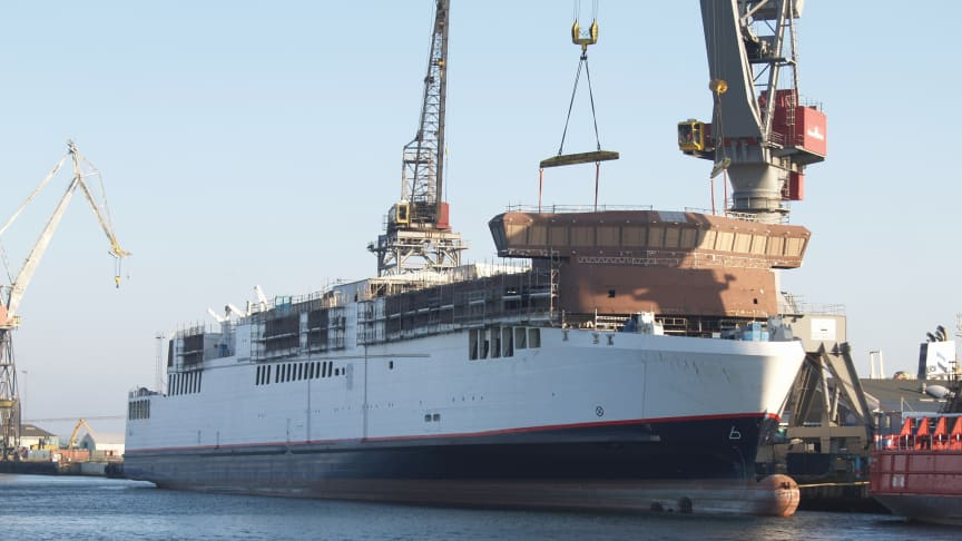 Neue Scandlines-Schiffe nehmen Gestalt an