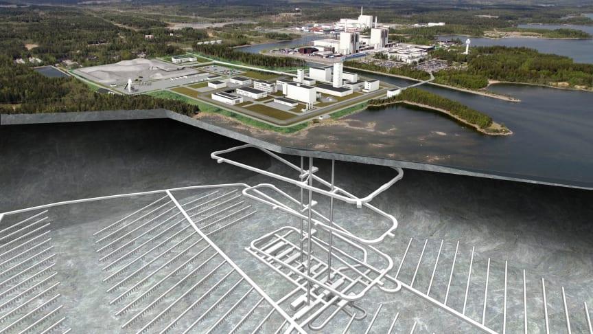 Det planerade slutförvaret för använt kärnbränsle i Forsmark. Foto: Lasse Modin