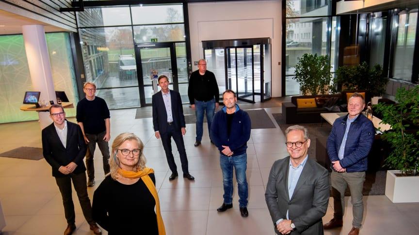 Styrelederne foran - Ann-Christin Andersen og Lars Erik Torjussen er glade for å få fortsette fusjonsprosessen