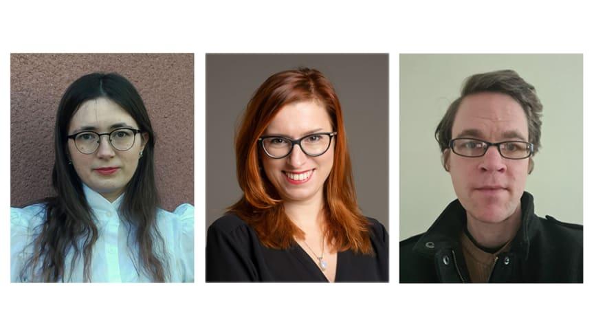 Annie Burman, Uppsala, Petra Dotlačilová, Stockholm och Svante Landgraf, Linköping, är Vitterhetsakademiens stipendiater inom Bernadotteprogrammet 2021.