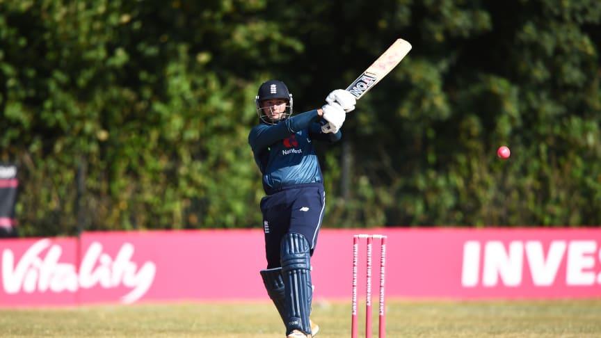 Alex Hammond bats against Bangladesh PD side (Credit Nathan Stirk/Getty)