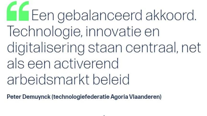 'Technologie centraal in Vlaams regeerakkoord'