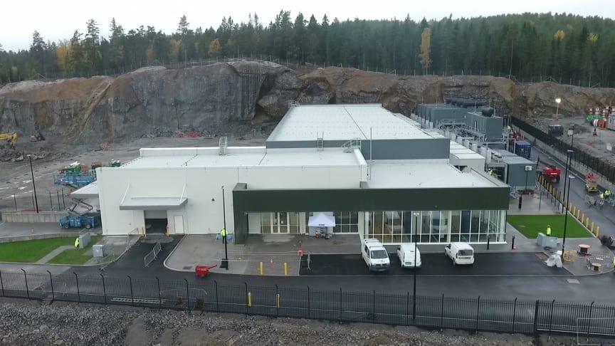 Den første 4MW bygningen på Green Mountain's datasenteranlegg i Enebakk utenfor Oslo.
