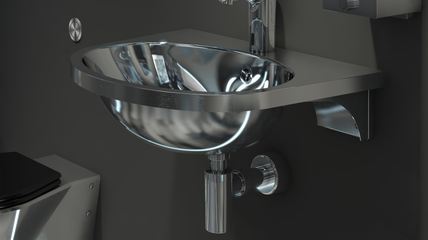 Extra large wash basin for environments that require highly durable products