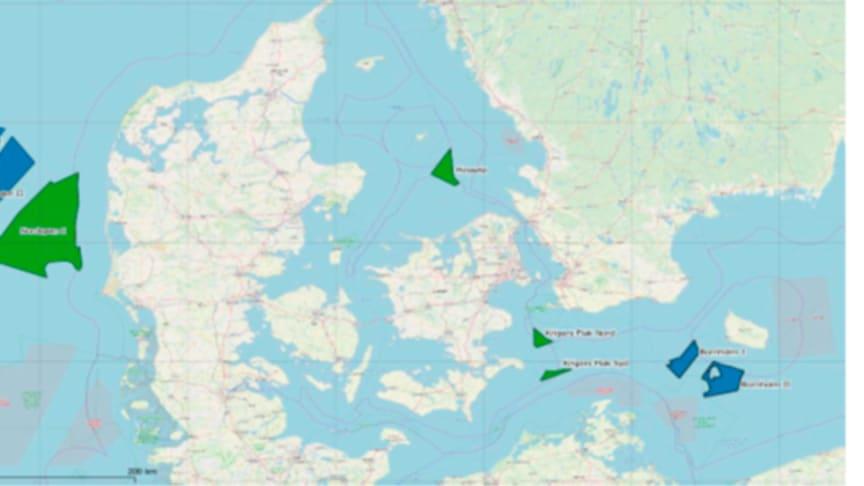 Kortet viser det samlede studieområde for finscreeningen.