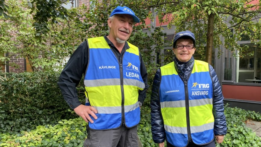 """Alf-Göran Rappner och Ann Örenholm-Persson från Kävlinges Frivilliga resursgrupp uppmanar alla att vara beredda på kris. """"Du ska klara dig själv en vecka utan samhällets hjälp."""""""