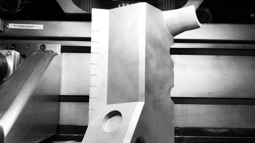 3D-utskriven del till en testreaktor för kärnfusion. Foto: Yuan Zhong, Stockholms universitet.