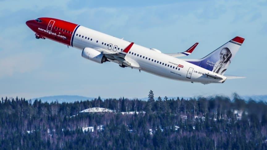 Fortsatt passagerartillväxt för Norwegian i december