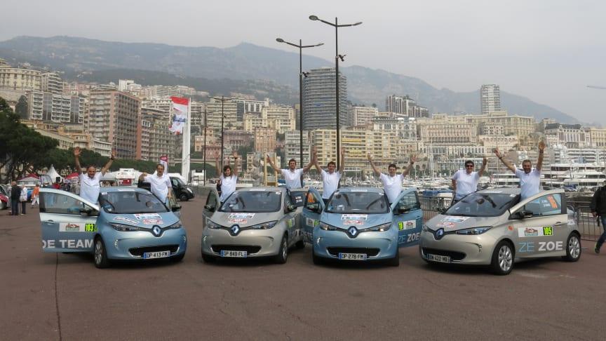 Renault Zoe vinder elbilernes Monte-Carlo Rally