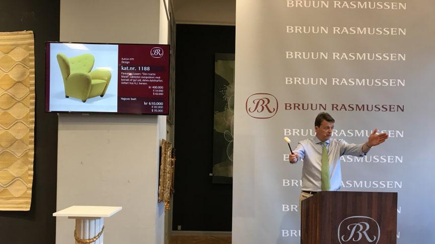 "Frederik Bruun Rasmussen sells ""The Tired Man"" for DKK 610,000 (€107,000 including buyer's premium)."