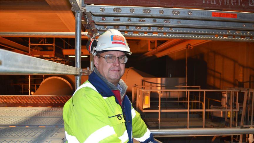 Jörgen Staflund, fabrikschef Cementa i Degerhamn.