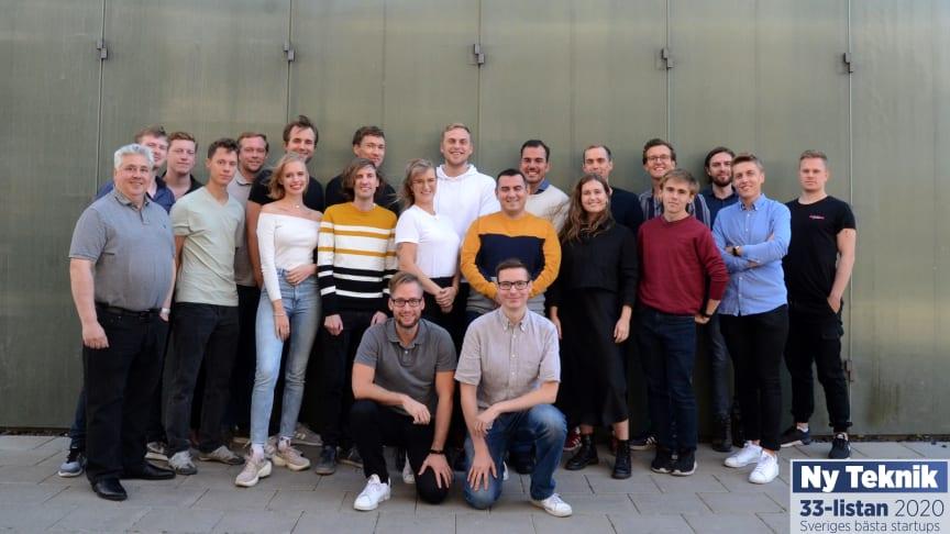 Debricked-teamet i ett blåsigt Malmö. Foto: Alma Söderholm