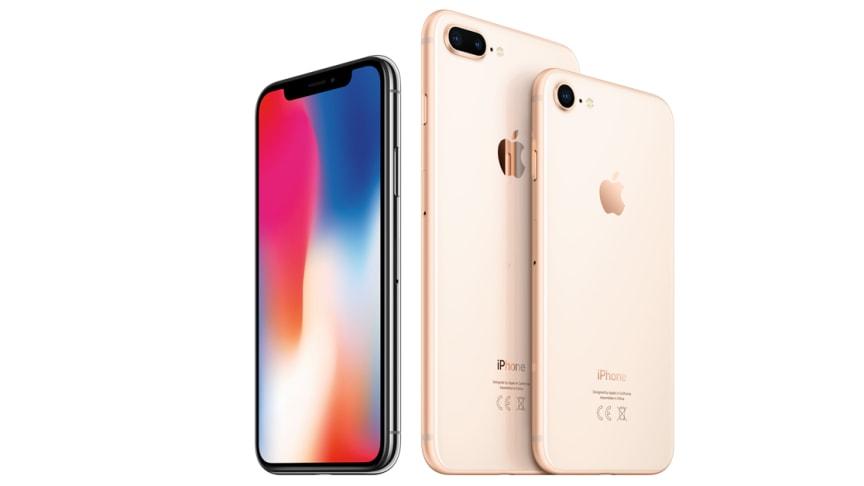 Apples iPhone X er en favoritt hos nordmenn og ligger på topp på Telias topp 10-liste for februar.