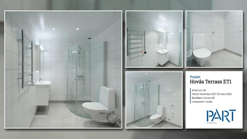 Part levererar 96 badrum till projektet Hovås Terrass ET1.