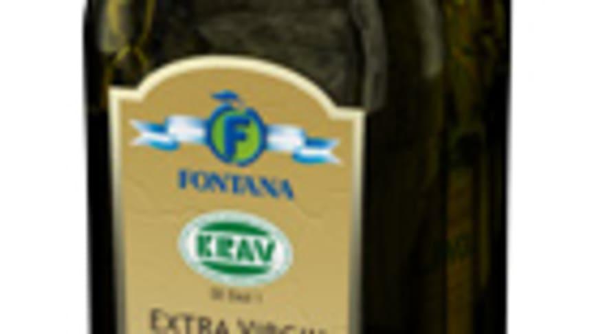 Fontanas KRAV-märkta olivolja får full pott av Icakuriren