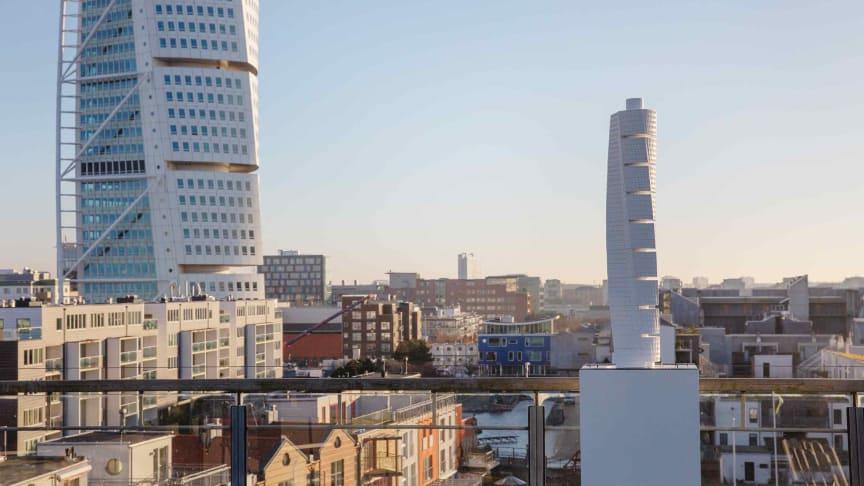 Taktil modell av Turning Torso, foto: Bojana Lukac, Malmö stadsbyggnadskontor