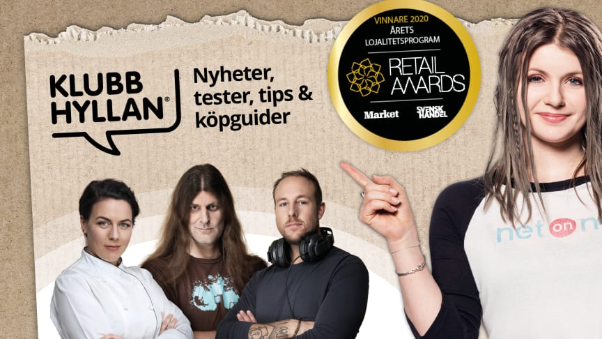NetOnNets Klubbhyllan hyllad som Årets lojalitetsprogram i Retail Awards