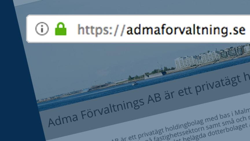 Adma lanserar ny hemsida