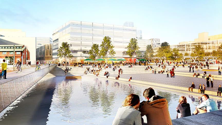 Göteborg utvecklar stationsområdet. Bild från stadsutvecklingsprogrammet.