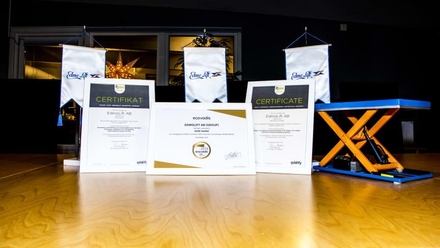 EdmoLift fortsätter vara ett topprankat företag inom CSR!