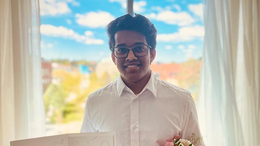 Pavan Bhaskar från Indien utsedd till årets Global Swede från Högskolan Väst