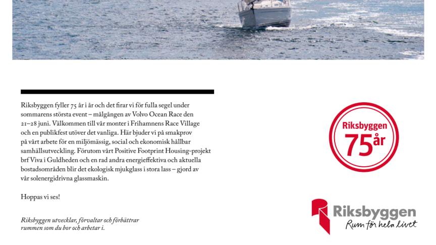 Riksbyggen vid målgången Volvo Ocean Race