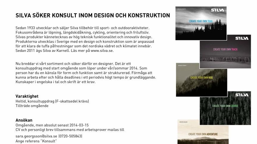 Silva söker konsult inom design och konstruktion