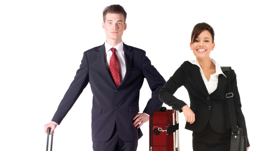Anti-fall-strap håller bagaget på plats och ger dig en ledig hand på flygplatsen
