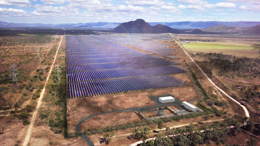 Digital rendering of the Ross River Solar Farm upon completion. (Picture from Ross River Solar Farm)