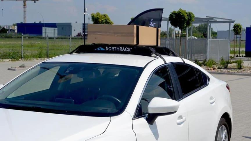 Northrack passer til biler både med og uten skinner, og tåler en maks vekt på 75 kg.