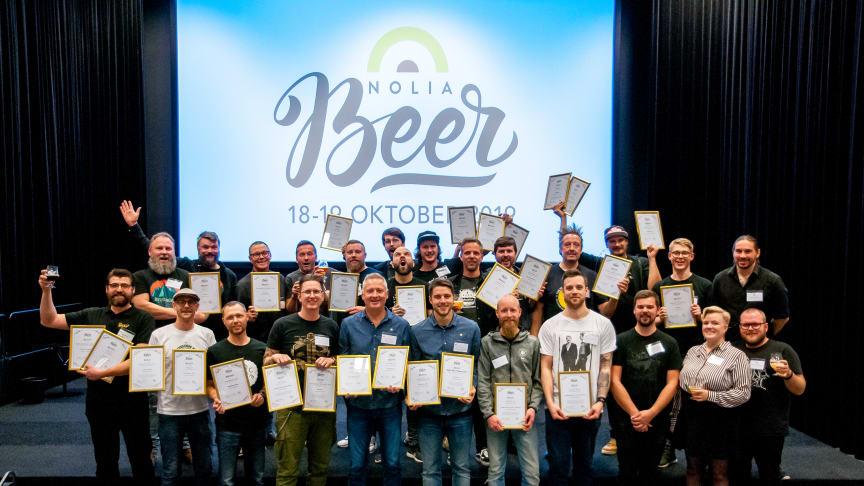 Alla pristagare i Nolia Beers öltävling 2019.