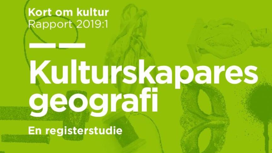 Ny statistik: Kulturskapares villkor i olika delar av Sverige