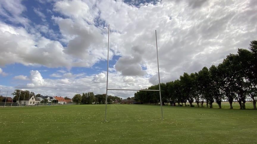 Numera finns det både rugby- och fotbollsmål på Gylle stadion.