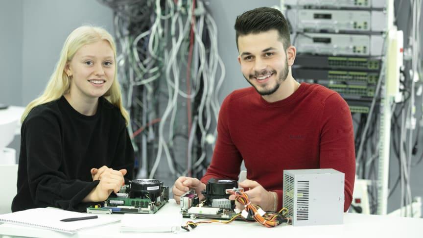 Elever som går på teknikprogrammet på Wijkmanska kommer att läsa på Rudbeckianska från och med hösten 2021. Foto: Per Groth