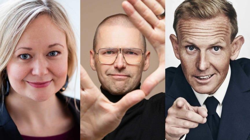 Sofia Rasmussen, Ari Riabacke och Måns Möller föreläser under dagen