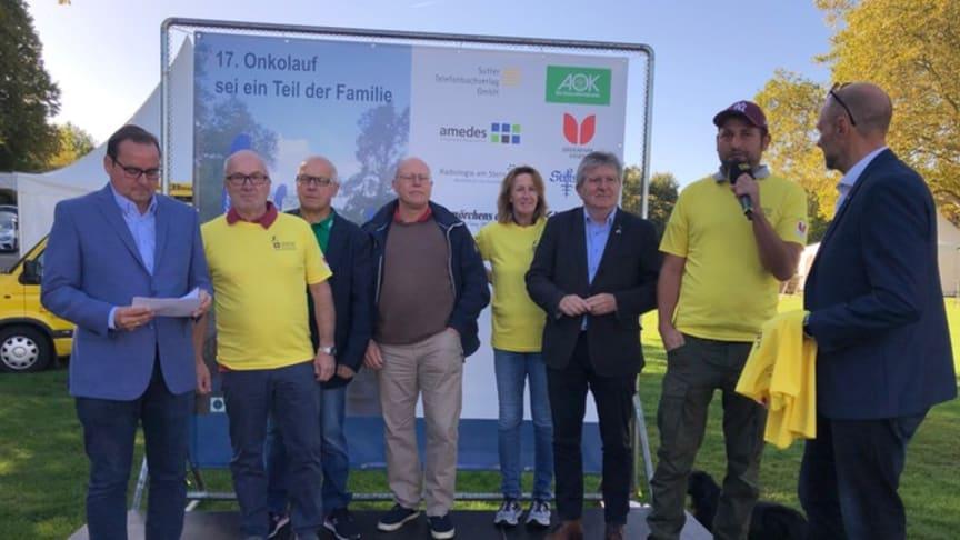 Prof. Bernd Eiben, amedes MVZ Institut für Labormedizin und Klinische Genetik Rhein/Ruhr (2. von links) beim diesjährigen Essener Onkolauf.