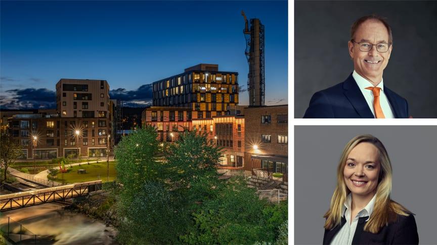Verket Moss ble nominert til flere byutviklingspriser i 2020. Administerende direktør Eirik Thrygg og finansdirektør Birthe Smedsrud Skeid.