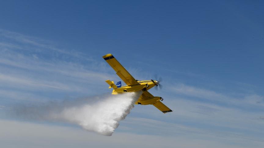 I dag har de mindre skopande flygplanen aktiverats för första gången. MSB bistår med denna förstärkningsresurs till en skogsbrand i Örbyhus.
