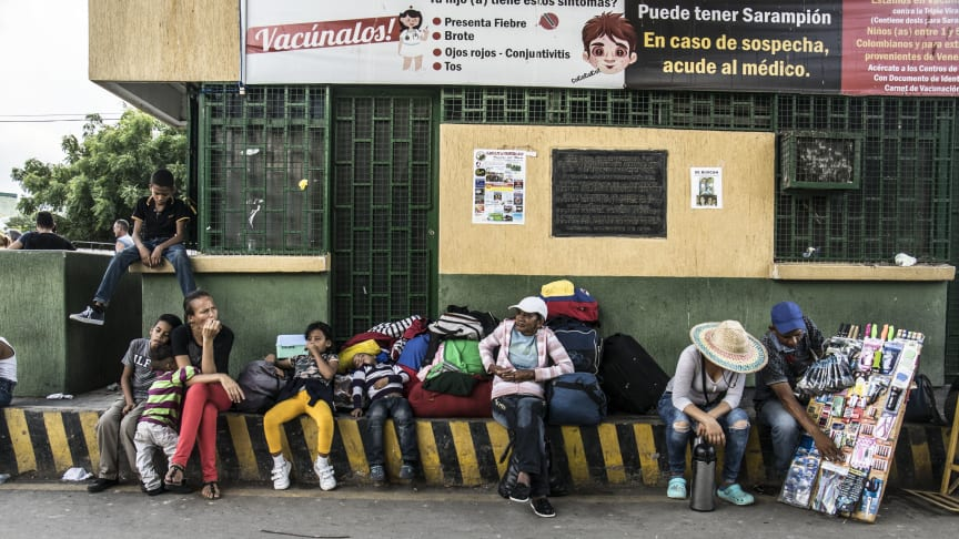 Venezuelan  migrants arrive in the northeastern Colombian border city of Cúcuta.
