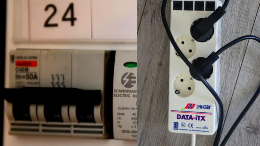Du kan selv sjekke om du har overspenningsvern i boligen din. Informasjon om dette er installert skal fremgå av kursfortegnelsen som gjerne er montert på innsiden av døren til sikringsskapet.