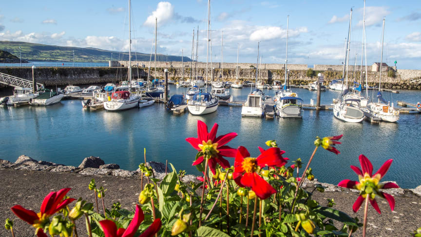 The stunning Glenarm Marina is just one of Mid and East Antrim's tourism gems