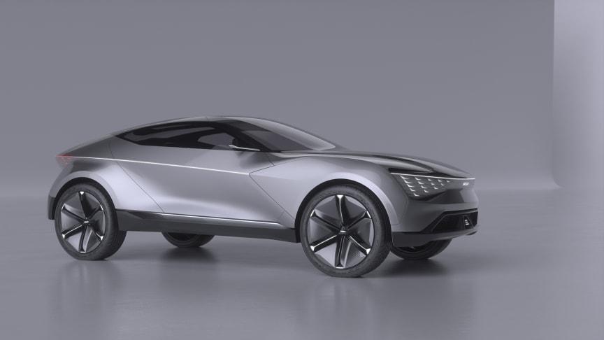 Futuron konceptet repræsenterer KIAs forestilling af en moderne, selvsikker og progressiv elektrisk SUV-coupé