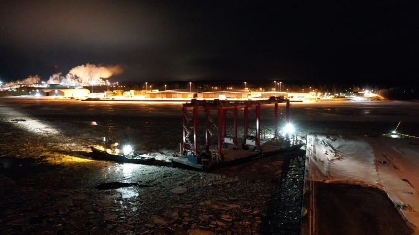 RTG-kranar anländer Gävle hamn