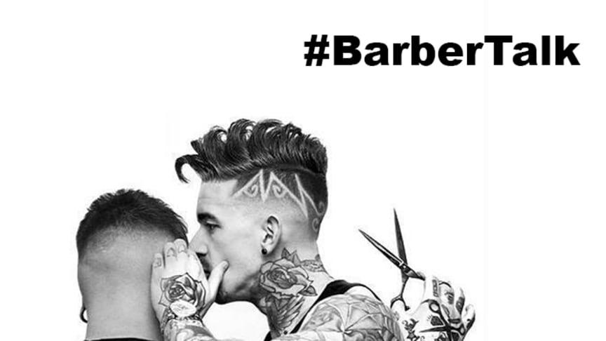 Under hashtaggen #barbertalk uppmanas barberare att lyssna på sina kunder för att förebygga självmord. Svenska barberare trimmar skägg för Lions Barber Collective under World Beard Day.