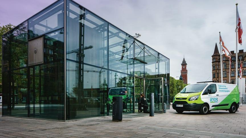 Ryds Glas på plats på Sundstorget i Helsingborg, Skåne. (Foto: Ryds Glas)