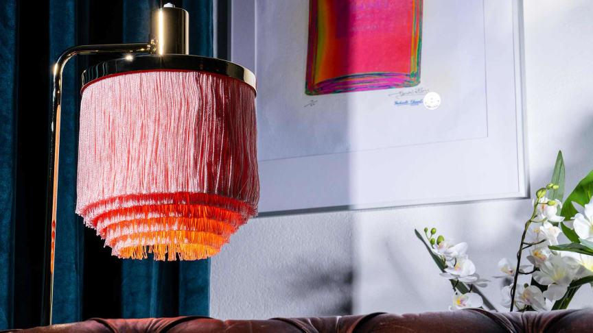 Lampor trendar i inredningskategorin, som är den största på Tradera