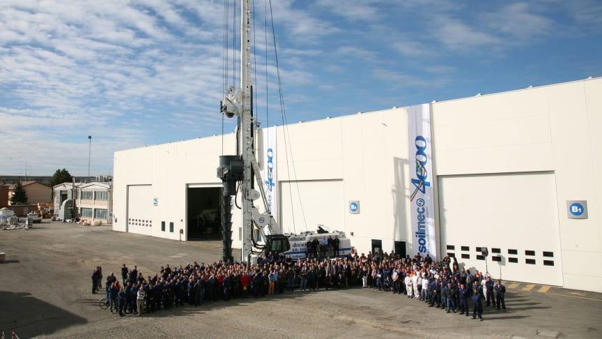 Soilmec firar slutförandet av maskin nummer 4000
