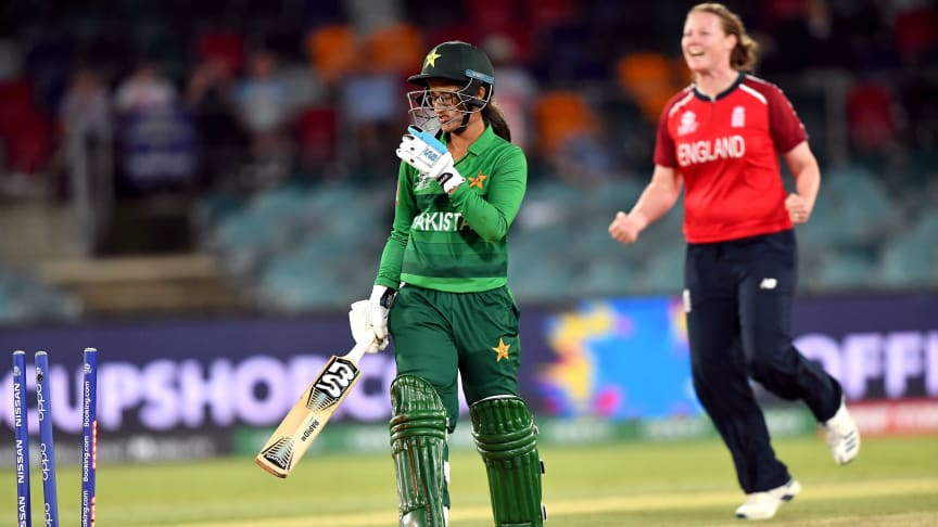 England Women in action against Pakistan in 2020. Photo: Getty Images